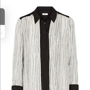 VINCE. Perfect condition Wavy striped silk top